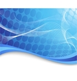blue high-tech background with waves vector image vector image