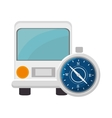 bus and compass vector image vector image