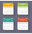 Calendar Quarter Month Set vector image