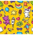 Carnival party kawaii seamless pattern Cute vector image