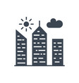 city building glyph icon vector image vector image