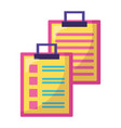 clipboards report check vector image