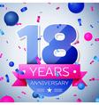 Eighteen years anniversary celebration on grey vector image vector image