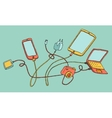 Electronic Devices Cartoon hand drawn vector image vector image