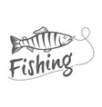 fishing logo isolated on a dark background vector image vector image
