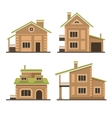 Flat Residential Houses Set vector image vector image