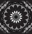floral greek seamless mandala pattern black and vector image vector image