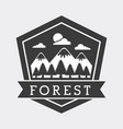 forest adventure exploration landscape mountain vector image vector image
