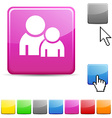 Forum glossy button vector image vector image