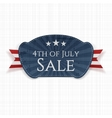 Fourth of July Sale Label vector image vector image