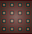 geometric pattern of large and small dark squares vector image vector image
