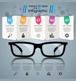 glasses icon abstract infographic vector image vector image
