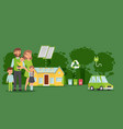 green lifestyle family environment eco vector image