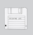 hand-drawn floppy disk khufa is old vector image