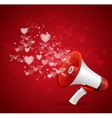 Heart and megaphone Valentines day card vector image vector image