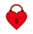 heart padlock flat vector image vector image