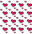 heart shape love symbol seamless pattern vector image vector image