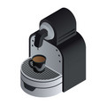 home coffee maker icon isometric style vector image vector image
