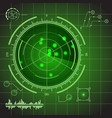 hud futuristic technology green display element vector image