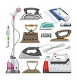 iron ironing electric household appliance vector image