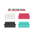 isolated 3d sofa on white background art vector image