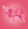Isolated Pig made with triangles design vector image vector image