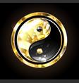 jewelry yin yang symbol vector image