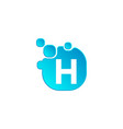 letter h bubble logo template or icon vector image
