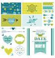 love heart and arrows party set - for party vector image vector image