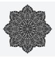 mandala circular geometric monochrome pattern vector image vector image
