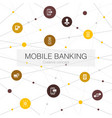 mobile banking trendy web template with simple vector image