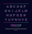modern font technology and alphabet design vector image