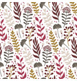 modern seamless pattern with leaves and floral vector image vector image
