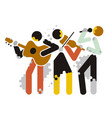 music group with singer vector image vector image