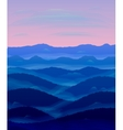 Panorama of hills Sunset Mist vector image vector image
