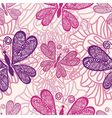 Pattern butterfly background vector image vector image
