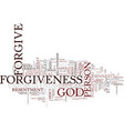 power forgiveness text background word vector image vector image