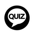 quiz speech bubble icon design vector image vector image