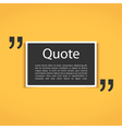 Quote Frame vector image vector image