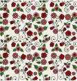 Red and pink floral pattern vector image vector image