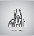 sagrada familia icon on grey background spain