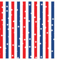 Seamless pattern with red and blue stars vector image