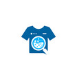 search laundry logo icon design vector image vector image