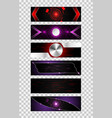 set 6 banner abstract technology concept vector image