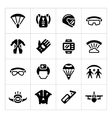 Set icons of parachute vector image vector image