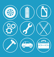 set of car service icons vector image vector image