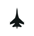 simple black Military aircraft icon on white vector image