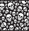 skull seamless pattern on black background vector image vector image