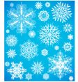 snowflake design collection vector image