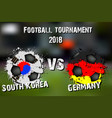 soccer game south korea vs germany vector image vector image